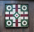 Primitive Hand Painted Parcheesi Wooden Game Board