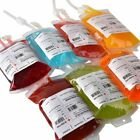 REUSABLE IV BLOOD CLEAR BAGS HALLOWEEN PARTY HAUNTED HOUSEDRINK·CONTAINE 2018 T