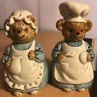 Vintage OTAGIRI Country Bears Salt And Pepper Shakers 4 1 2 Tall