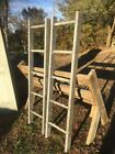Vintage Wood Ladder 5FT + Rustic Flowers Pots Pans Quilts primitive deco