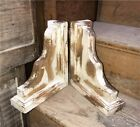 Pair Distressed Corbels, Farmhouse Decor, Bookends, Wooden Brackets, Salvage
