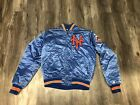 Vintage Starter New York Mets Satin Kacket Size Medium Bkue And Orange
