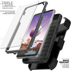 LG Stylo 4 3 2 Plus Belt Clip Stand Holster Case Cover BUILT IN SCREEN PROTECTOR