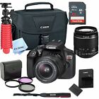 New Canon Rebel T6 SLR Camera Premium Kit w 18 55 Lens bag SD Card