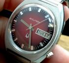 VINTAGE BULOVA ACCUTRON MENS QUARTZ WATCH WITH DAY & DATE FUNCTION (E86)