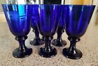 Vintage Libby Colbalt Blue Goblets Footed  7 in