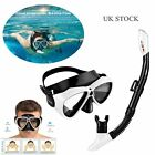 Femor Silicone Snorkel+Anti Fog Goggles Mask Set Diving Swimming Tool For Adults
