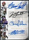 BRUCE SMITH+JASON TAYLOR+CHRIS DOLEMAN+MICHAEL STRAHAN IMPECCABLE QUAD AUTO 10