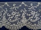ANTIQUE DELICATE AIRY FRENCH BRUSSELS LACE 9