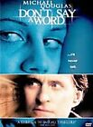 Michael Douglas DON'T SAY A WORD Near Mint DVD Played Only Once Pvt Collection
