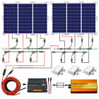 600Wat 6100W Solar panel battery+20A CMG Controller Inverter for Home RV Boat