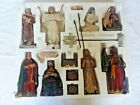 14 PC FIGURES IN 7 INCH REAL LIFE NATIVITY THREE KINGS GIFTS RLNO30