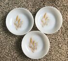 Set of 3 - Vintage Fire King Harvest Wheat - 6 1/2