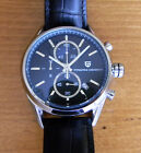 PAGANI design 43mm black dial stainless steel chronograph date quartz watch 1112