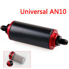 New Universal AN10 100 Micron Aluminum Car High Flow Fuel Inline Petrol Filter