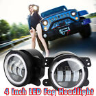 4 inch Halo Angle Eye Fog Light Driving Lamp DRL Bulb For Jeep Wrangler JK CJ TJ