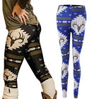 Christmas Deer Print Women Kids Xmas Warm Stretch Pants Leggins Leggings Pants
