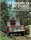 1971 FORD BRONCO BROCHURE BRONCO SPORT WAGON 4X4 FORD BRONCO PICKUP