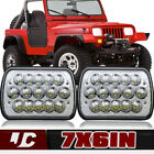 2PC Square LED Headlights HEADLAMP 87 95 Wrangler YJ  84 01 Cherokee XJ