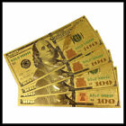 5 Pcs New Style U.S. Note $100 One Hundred Dollars 24k .999 Gold Banknote