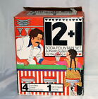 Vintage Jeannette Glass Soda Fountain Set 12 Plus 1 Banana Boat Sundae in Box