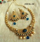 ndian Women Bridal Necklace Set Gold Plated Wedding Jewelry Bollywood Style