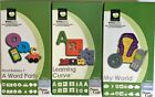 3 Cricut CLASSMATES Cartridge lot a word party LEARNING CURVE my world