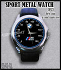 New official Wristwatches BMW M POWER LOGO MENS N WOMEN LEATHER SPORT WATCH