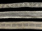 Three Country Style Primitive Off-white Crochet Laces, Trims, Edgings Home Decor