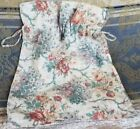 Antique Reticule Purse Drawstring Pouch Lingerie Bag Roses Floral Print