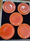 Vintage Homer Laughlin FIESTA Red Orange 6 1/4 Inch Bread and Butter Plate