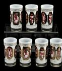 Vintage H. Sternberg Set of 6 Highball Glasses-Shades of Burgundy/Red/Black/Gold