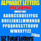 Alphabet Letters Decals IMPACT 1 2 3 4 1 up to 5 sizes FREE SHIP STICKERS