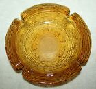 Anchor Hocking Glass Honey Gold Amber Soreno Ashtray 8 3/4