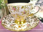TUSCAN tea cup and saucer pink chintz pink rose teacup Dubarry rose pattern