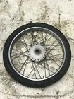 1978 Suzuki TS185 Complete Front Wheel and Tire Package TS 185 78