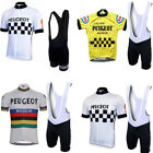 2018 peugeot classic Cycling Sets men red yellow cycling jersey cycling team