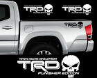 Trd Punisher Edition Toyota Tacoma Tundra Vinyl Decal Truck Sticker Set Of 2