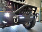 Rock Crawler Front Bumper W Winch Plate  LED Lights For 07 18 Jeep Wrangler JK