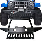 Front Bumper For Jeep Wrangler JK Rock Crawler Stubby W Fog Light Hole 2007 2018