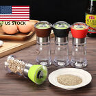 Acrylic Manual Pepper Grinder Salt Spices Mill Shaker Transparent Grinding Tool