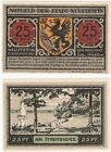 Germany 25 Pfennig 1921 Notgeld Neustettin UNC Uncirculated Banknote - Boat