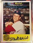 2006 TOPPS HERITAGE STAN MUSIAL AUTOGRAPH SERIAL #ED 01 25 CARDINALS SIGNED RARE