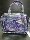 VEFA BRADLEY 4 PC COSMETIC ORGANIZER W/CLEAR TOTE BATIK LEAVES NEW WITH TAGS