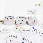 Cat Expression Adhesive Stickers Stationary Paper Scrapbooking Embellishments