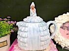 SADLER Ye Daintee Ladyee baby blue teapot with lady painted top ruffled dress