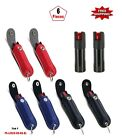 6 Pcs Mix Color Pepper Spray 50oz with Artificial Leather Case Key Chain