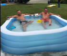Inflatable Swimming Pool for Kids Kiddie Adult Heavy Duty Play Lounge Backyard