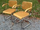 2 Vintage Mid Century Thonet Marcel Breuer Cesca Matching Chairs - Very Good