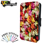 BEAUTIFUL MULTI COLOUR ROSES FLOWERS - Leather Flip Wallet Phone Case Cover
